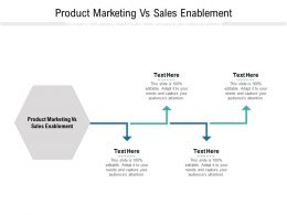 Product Marketing Vs Sales Enablement Ppt Powerpoint Presentation Icon Slides Cpb