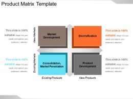 Product Matrix Template Ppt Infographics