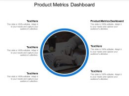 Product Metrics Dashboard Ppt Powerpoint Presentation Icon Influencers Cpb