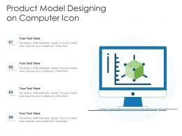 Product Model Designing On Computer Icon