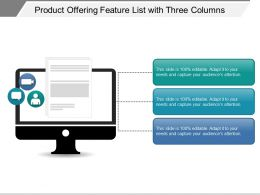 Product Offering Feature List With Three Columns