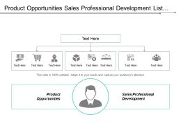 Product Opportunities Sales Professional Development List Core Values Cpb