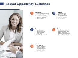 Product Opportunity Evaluation Competition Timing Ppt Powerpoint Presentation Layouts Background
