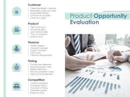 Product Opportunity Evaluation Customer Accessibility Ppt Presentation Clipart