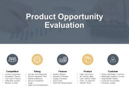 Product Opportunity Evaluation Finance Ppt Powerpoint Presentation Portfolio Vector