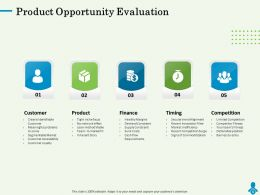 Product Opportunity Evaluation Network Ppt Powerpoint Presentation Visuals