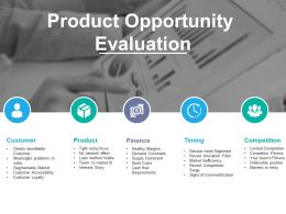 Product Opportunity Evaluation Powerpoint Slides