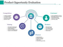Product Opportunity Evaluation Ppt Styles Background Designs