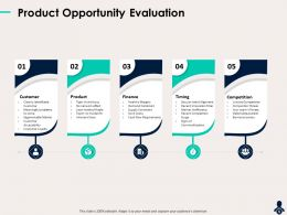 Product Opportunity Evaluation Tight Niche Focus Powerpoint Presentation Infographics