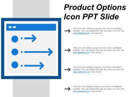 Product Options Icon Ppt Slide