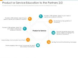 Product Or Service Education To The Partners Service Partner Relationship Management Prm Tool Ppt Grid