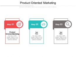 Product Oriented Marketing Ppt Powerpoint Presentation Infographics Elements Cpb