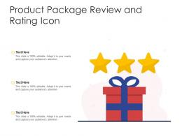 Product Package Review And Rating Icon