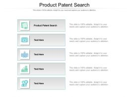 Product Patent Search Ppt Powerpoint Presentation Outline Structure Cpb