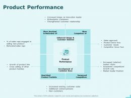 Product Performance Customer Relation Ppt Powerpoint Presentation Professional Layout