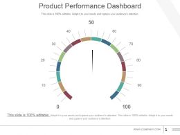Product Performance Dashboard Powerpoint Slide Information