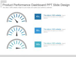 Product Performance Dashboard Ppt Slide Design