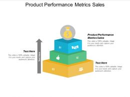 Product Performance Metrics Sales Ppt Powerpoint Presentation Model Icons Cpb