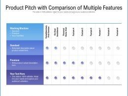 Product Pitch With Comparison Of Multiple Features