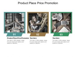Product Place Price Promotion Ppt Powerpoint Presentation Gallery Ideas Cpb