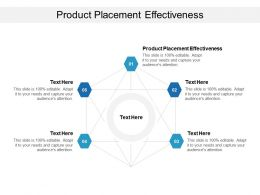 Product Placement Effectiveness Ppt Powerpoint Presentation Ideas Visuals Cpb