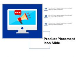 Product Placement Icon Slide