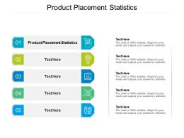 Product Placement Statistics Ppt Powerpoint Presentation Layouts File Formats Cpb