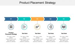 Product Placement Strategy Ppt Powerpoint Presentation Slides Templates Cpb