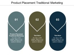 Product Placement Traditional Marketing Ppt Powerpoint Presentation Show Format Cpb