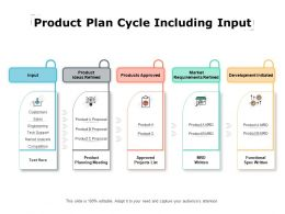 Product Plan Cycle Including Input