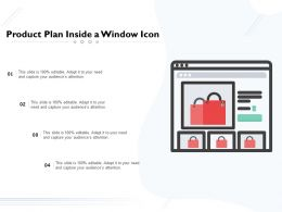 Product Plan Inside A Window Icon