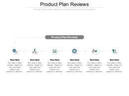 Product Plan Reviews Ppt Powerpoint Presentation Icon Shapes Cpb
