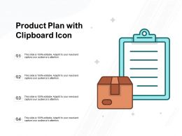 Product Plan With Clipboard Icon
