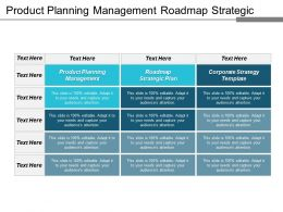 Product Planning Management Roadmap Strategic Plan Corporate Strategy Template Cpb