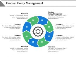 Product Policy Management Ppt Powerpoint Presentation Model Elements Cpb