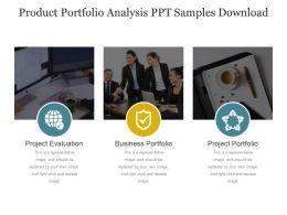 Product Portfolio Analysis Ppt Samples Download