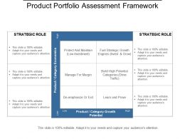 Product Portfolio Assessment Framework Powerpoint Layout