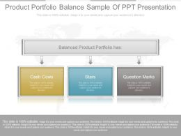 Product Portfolio Balance Sample Of Ppt Presentation