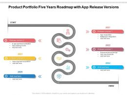 Product Portfolio Five Years Roadmap With App Release Versions