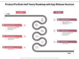 Product Portfolio Half Yearly Roadmap With App Release Versions
