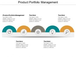 Product Portfolio Management Ppt Powerpoint Presentation Layouts Format Ideas Cpb