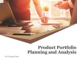Product Portfolio Planning And Analysis Powerpoint Presentation Slides
