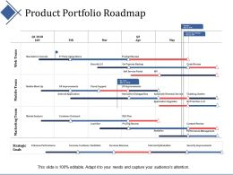 Product Portfolio Roadmap Ppt Summary Infographic Template