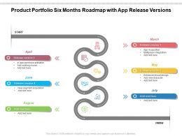 Product Portfolio Six Months Roadmap With App Release Versions