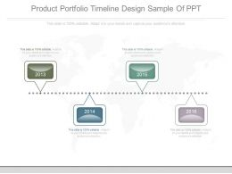 Product Portfolio Timeline Design Sample Of Ppt