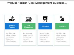 Product Position Cost Management Business Training Promotion Evaluation