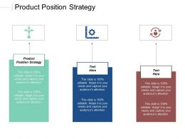 Product Position Strategy Ppt Powerpoint Presentation Gallery Template Cpb