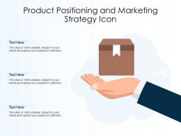 Product Positioning And Marketing Strategy Icon