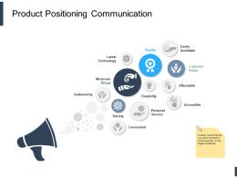 Product Positioning Communication Ppt Powerpoint Presentation Ideas