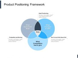 Product Positioning Framework Ppt Powerpoint Presentation Outline